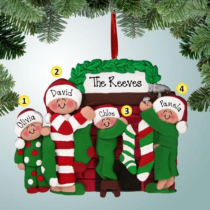 prodigious Personalizedfree.com Part - 3: PersonalizedFree.com - Hanging Stockings Family - 4 Personalized Christmas  Ornament, $15.99 (http:--personalizedfree.com-hanging-stockings-family-4-)