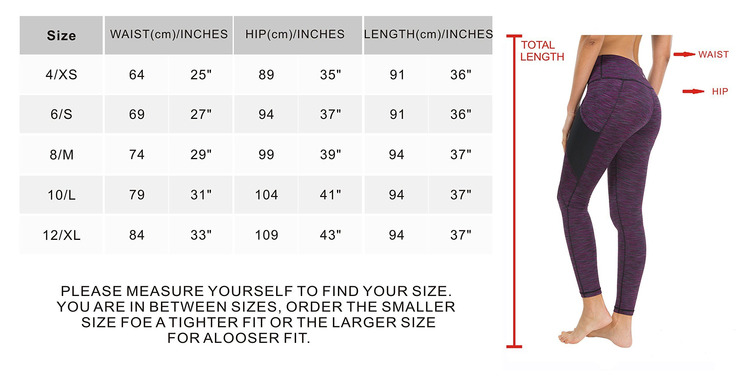 5601bc441d869c Queenie Ke Women Yoga Leggings Power Flex Mesh High Waist 3 Phone Pocket  Gym Running Tights Size XS Color Purple Space Dye Side Pockets *** Continue  to the ...