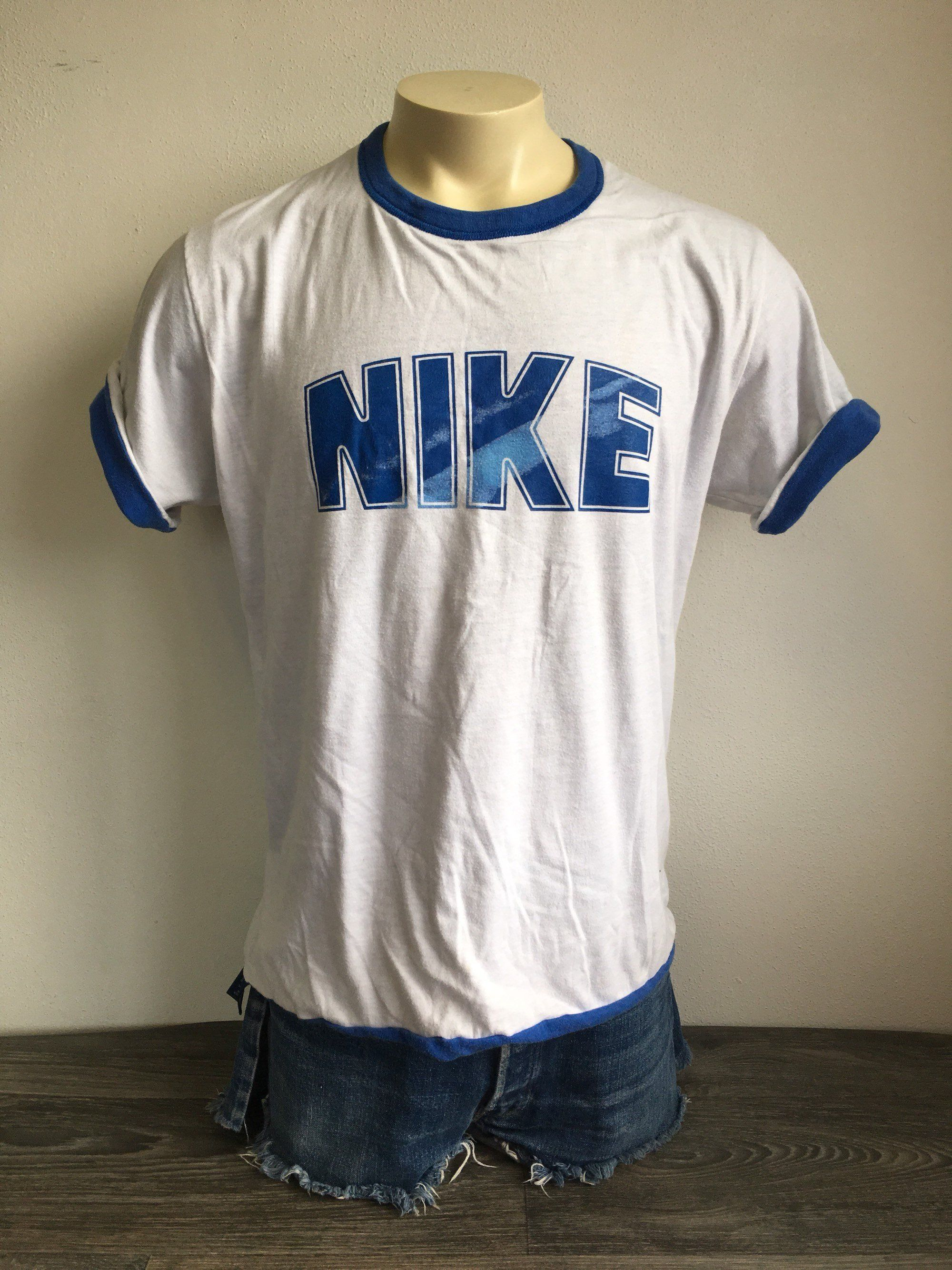 dfbf763e9b3 Vintage NIKE Shirt 80s Blue Tag Reversible Big DOME Block Letters Gym Team  Tshirt UsA Made XL Rare! by sweetVTGtshirt on Etsy