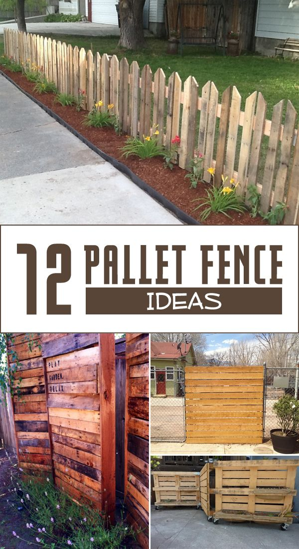 12 pallet fence ideas anyone can make pallet fence for Homemade fence ideas