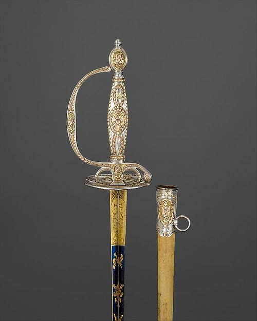 Sword maker: C. Liger (French, recorded 1770–93). Congressional Presentation Sword with Scabbard of Colonel Marinus Willett (1740–1830), hallmarked for 1785–86. The Metropolitan Museum of Art, New York. Bequest of George Willett Van Nest, 1916 (17.87.3a, b) | This work is featured in our Arms and Armor Notable Acquisitions 2003–2014 exhibition on view through December 6, 2015. #sword