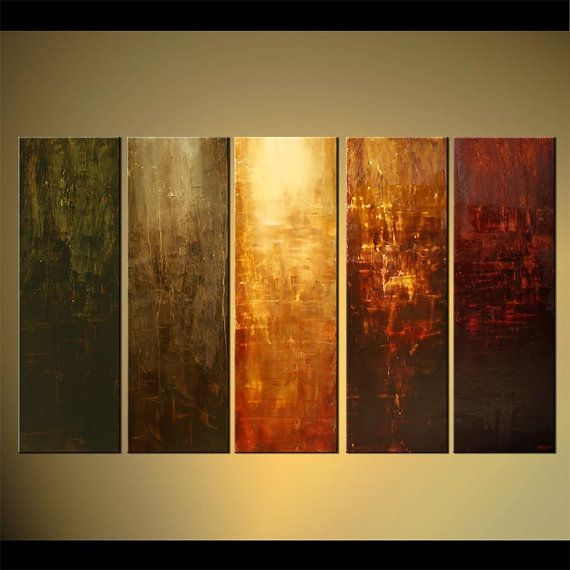 Large Modern Abstract Earth Tones Painting Original Acrylic Art On Canvas  By Osnat   MADE TO ORDER   60