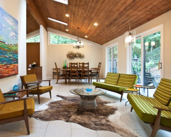 Stylish Decors Featuring Warm Rustic Beautiful Wood Ceilings Mid Century Modern House Mid Century Modern Living Room Mid Century Modern Interiors
