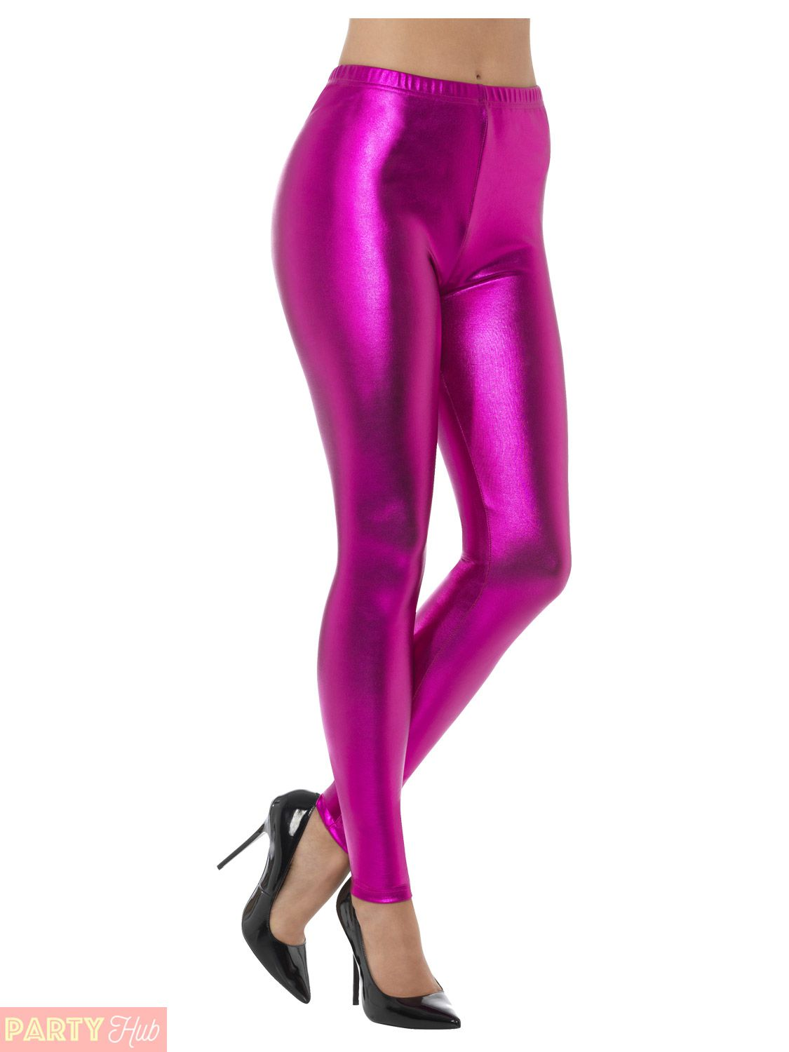 8dbba6e5289 Ladies-80s-Metallic-Leggings -Adult-Disco-Fancy-Dress-Costume-Womens-Retro-Outfit