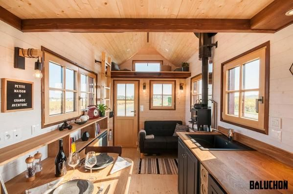 sqft  cholz hisla   tiny home on wheels by house baluchon also the bright and airy seagrass cottage rh pinterest