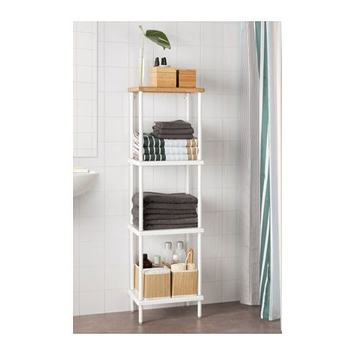 DYNAN Open kast, wit, bamboepatroon - Ikea, Kast en Badkamer