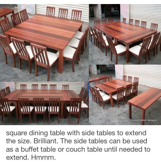 Love The Concept With Images Square Dining Tables