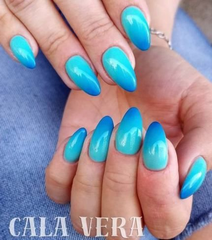 nails shellac ombre blue 56 best ideas  nail art ombre