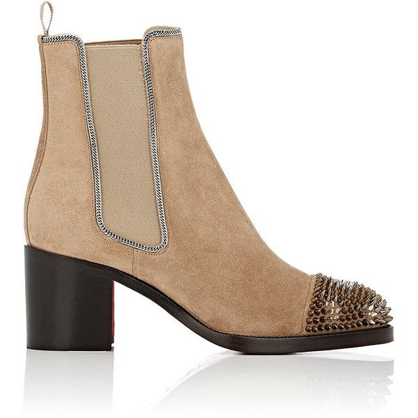4fb5dabcfead Christian Louboutin Women s Otaboo Suede Chelsea Boots (5.165 RON) ❤ liked  on Polyvore featuring
