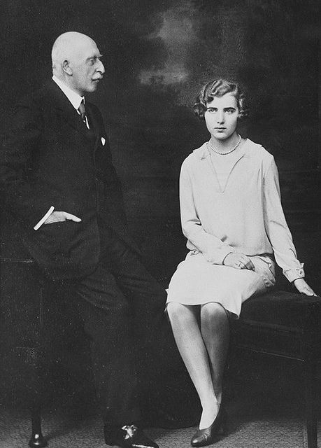 The Duke of Connaught with his granddaughter Princess Ingrid of Sweden