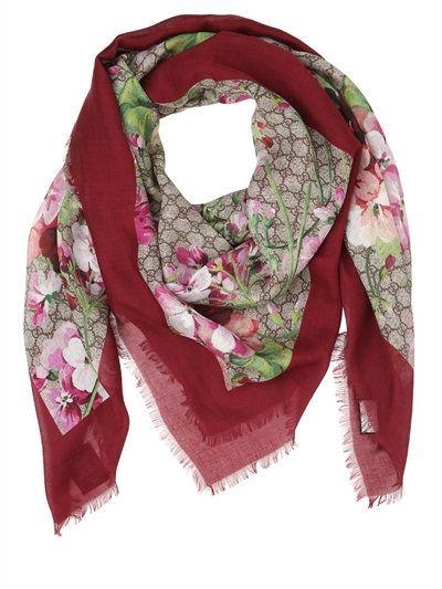 GG Supreme scarf - Pink & Purple Gucci athKuLuVe