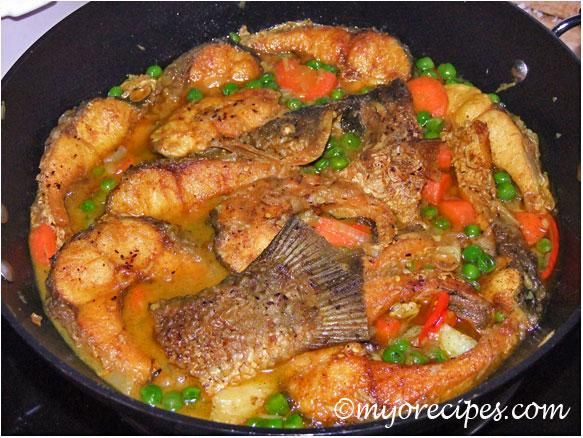 Bangladeshi fish curry with carrots peas and onions use coconut a quick and easy recipe for bangladeshi fish curry similar to indian fish curry forumfinder Choice Image