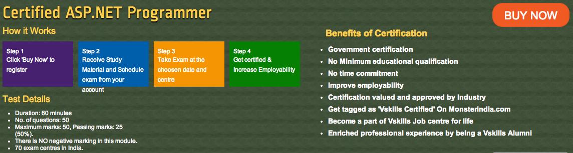 Certification Details Asp Certification Pinterest