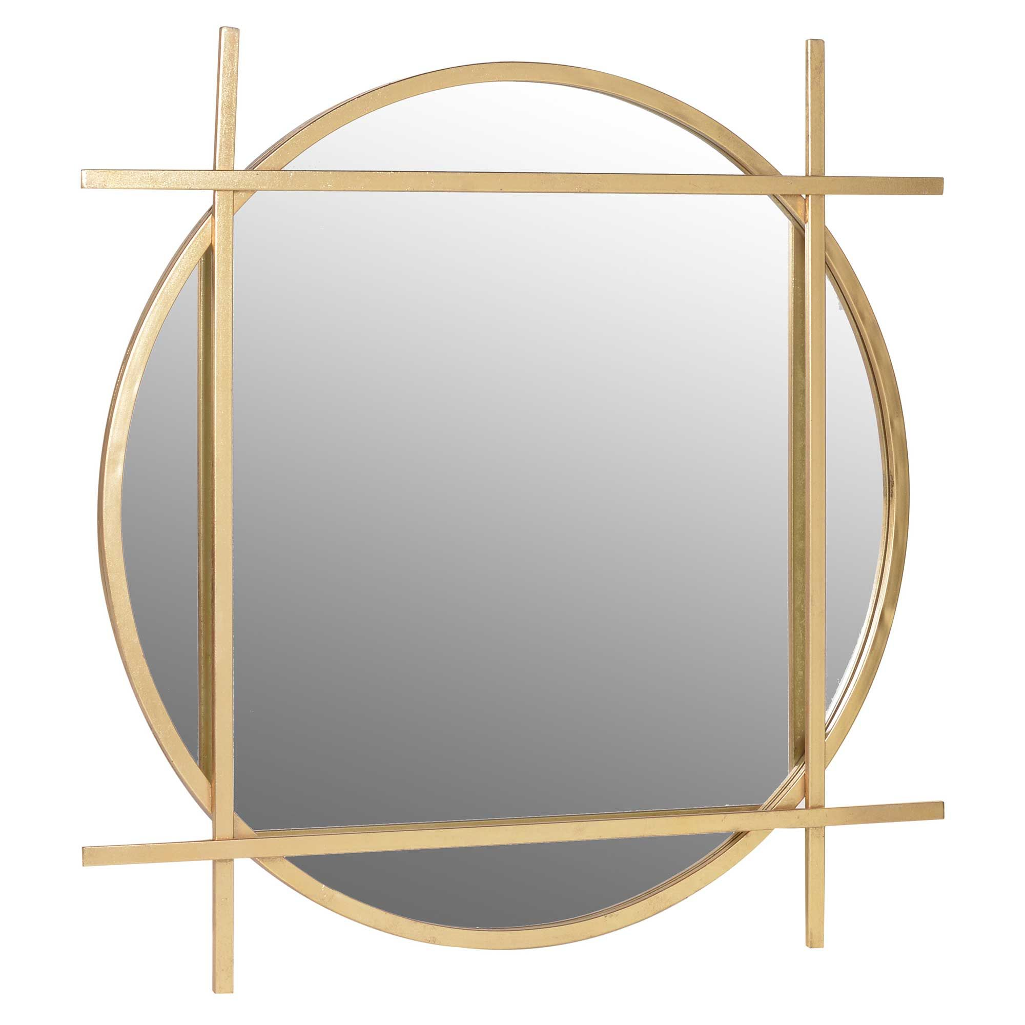 Circle Square Wall Mirror Gold Round Mirrors Barker Stonehouse Gold Framed Mirror Round Gold Mirror Mirror Wall