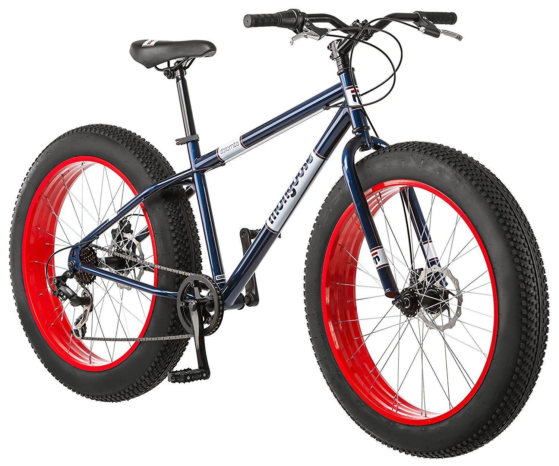Amazon.com : Mongoose men\'s Dolomite Fat Tire Bike, Blue, 26 inch ...