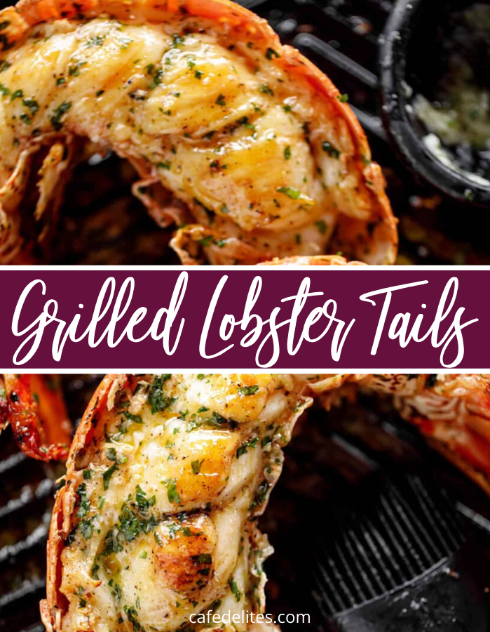 Grilled Lobster Tails are one of our favorite ways to cook up fresh lobster tails. Get restaurant quality flavor in just 20 minutes! Dive in to this incredible seafood dinner recipe. #seafood #lobster #tails #grill #grilling