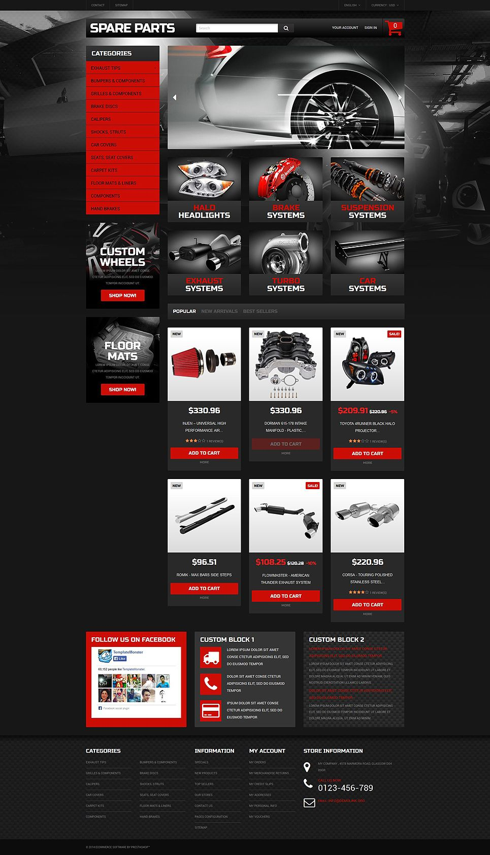 autotune auto parts ecommerce template prestashop theme. Black Bedroom Furniture Sets. Home Design Ideas