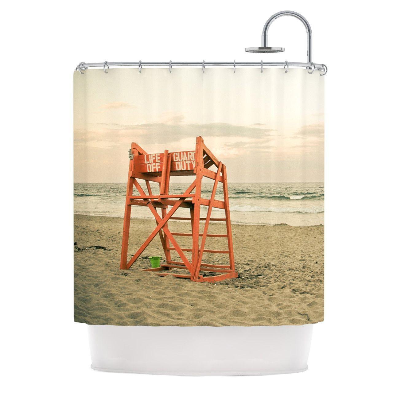 Ocean shower curtains - Debbra Obertanec Dusk At The Beach Ocean Shower Curtain