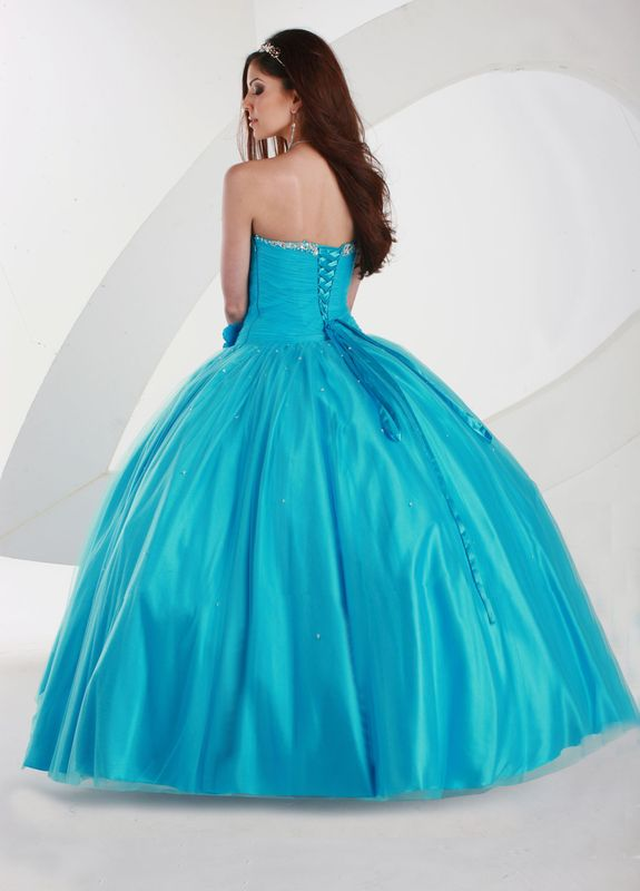 Gorgeous+A-Line+Sweetheart+Floor-Length+Quinceanera