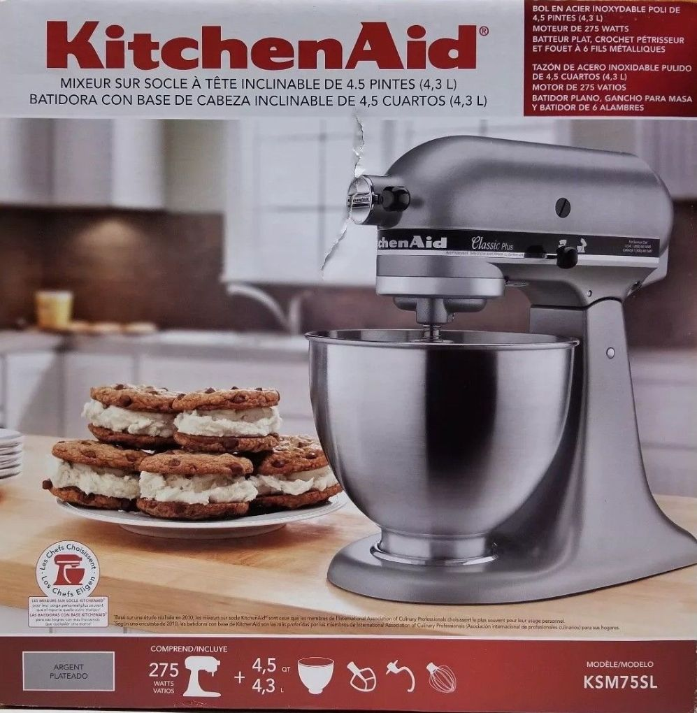 Countertop mixers 133701 kitchenaid ksm75sl classic plus