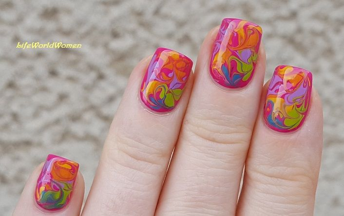 Water Marble Nail Art Tutorial For Beginners Hireability