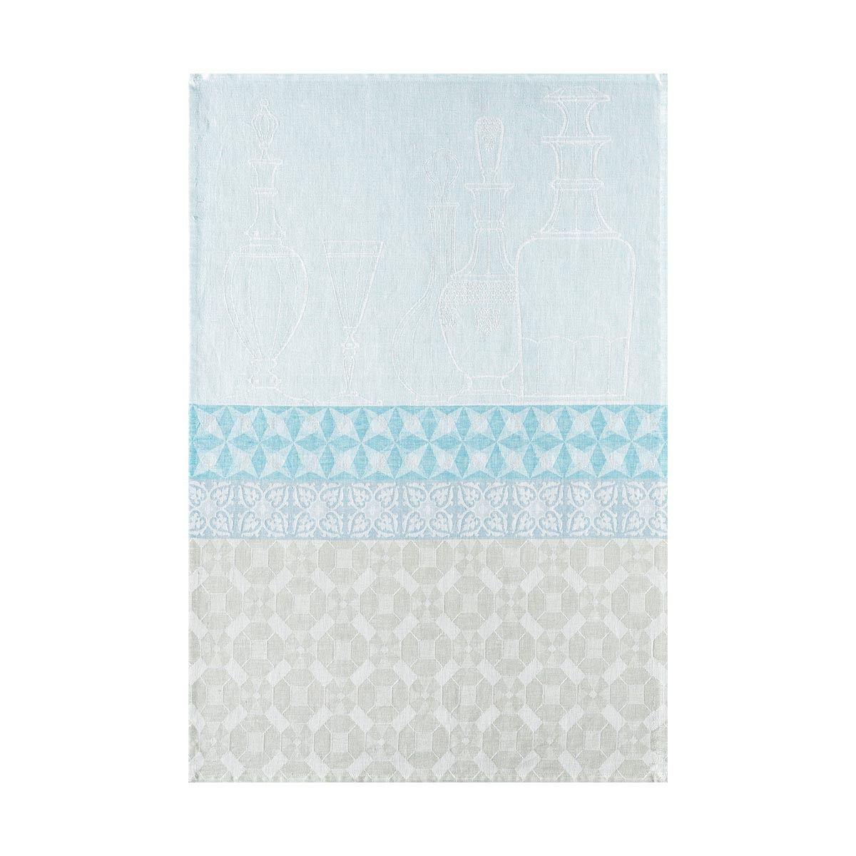 "Tea towel Transparence Blue aqua 60x80 / 24""x31"" 100% linen - Tea towel - Kitchen Linen - Le Jacquard Français"
