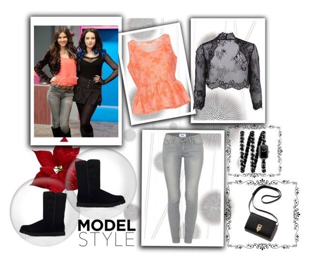"""""""The Victoria Justice Look!"""" by anumk19 on Polyvore featuring Komar, Chlotilde, Gina Bacconi, Paige Denim, Chanel, UGG Australia, women's clothing, women, female and woman"""