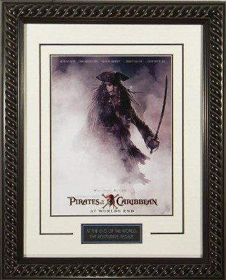 Pirates of the Caribbean: At Worlds End unsigned 20x28 Masterprint Poster Custom Rope Framed Johnny  @ niftywarehouse.com #NiftyWarehouse #PiratesOfTheCarribbean #Pirates #Movies #Pirate
