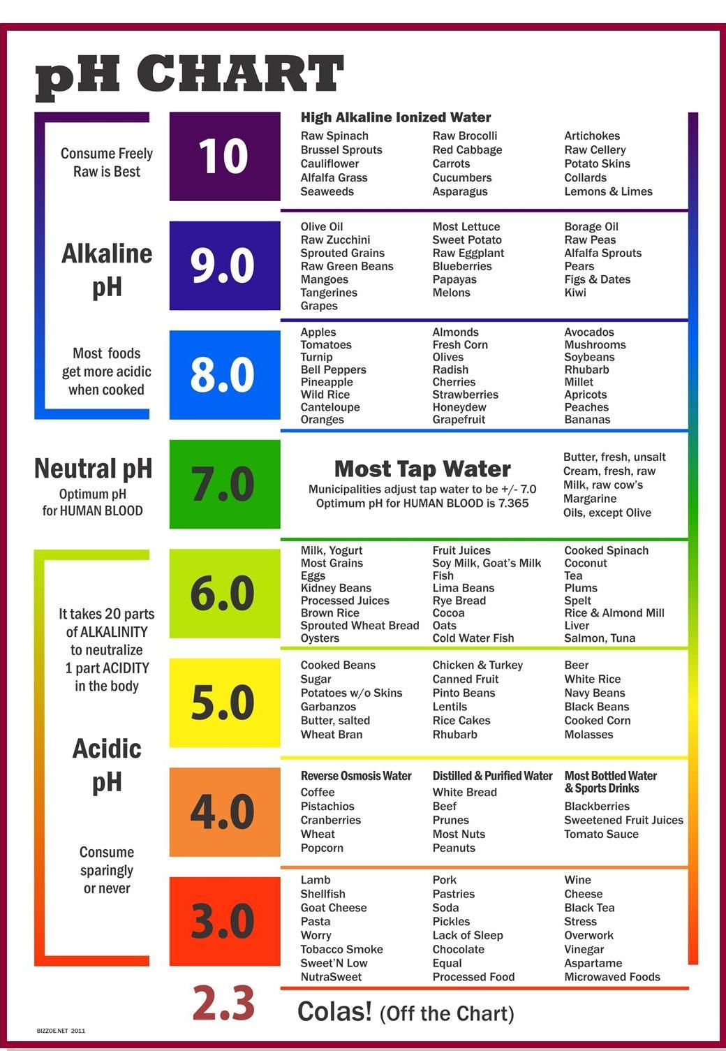 acid alkaline food chart: Ph chart ph alkaline diet and food charts