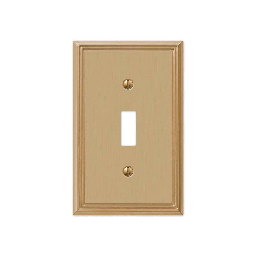 Hampton Bay Rhodes 1 Toggle Wall Plate - Brushed Bronze Cast ...