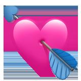 Heart With Arrow Emoji In 2020 Heart Emoji Heart With Arrow Blue Heart Emoji
