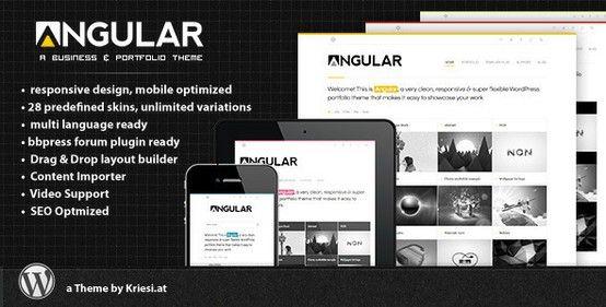 Angular – Responsive Portfolio WordPress Theme. Great portfolio ...