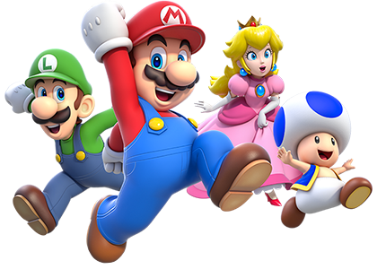Its Mario And Friends Mario Lets A Go Luigi Oh Yeahhh Peach