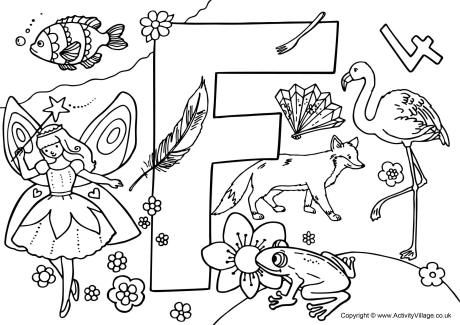 I Spy alphabet colouring page F *♧* Smart Kids Printables - copy abc coloring pages for baby shower