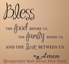 Bless Food Family Love Wall Sticker Decals Kitchen Quote Kitchen Quotes Decor Kitchen Quotes Kitchen Wall Quotes