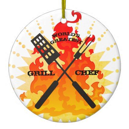 #Worlds greatest grill chef Christmas ornament - #Xmas #ChristmasEve Christmas Eve #Christmas #merry #xmas #family #kids #gifts #holidays #Santa