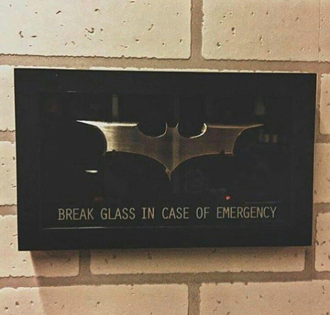 Batman/'s Emergency Batarang on stained glass