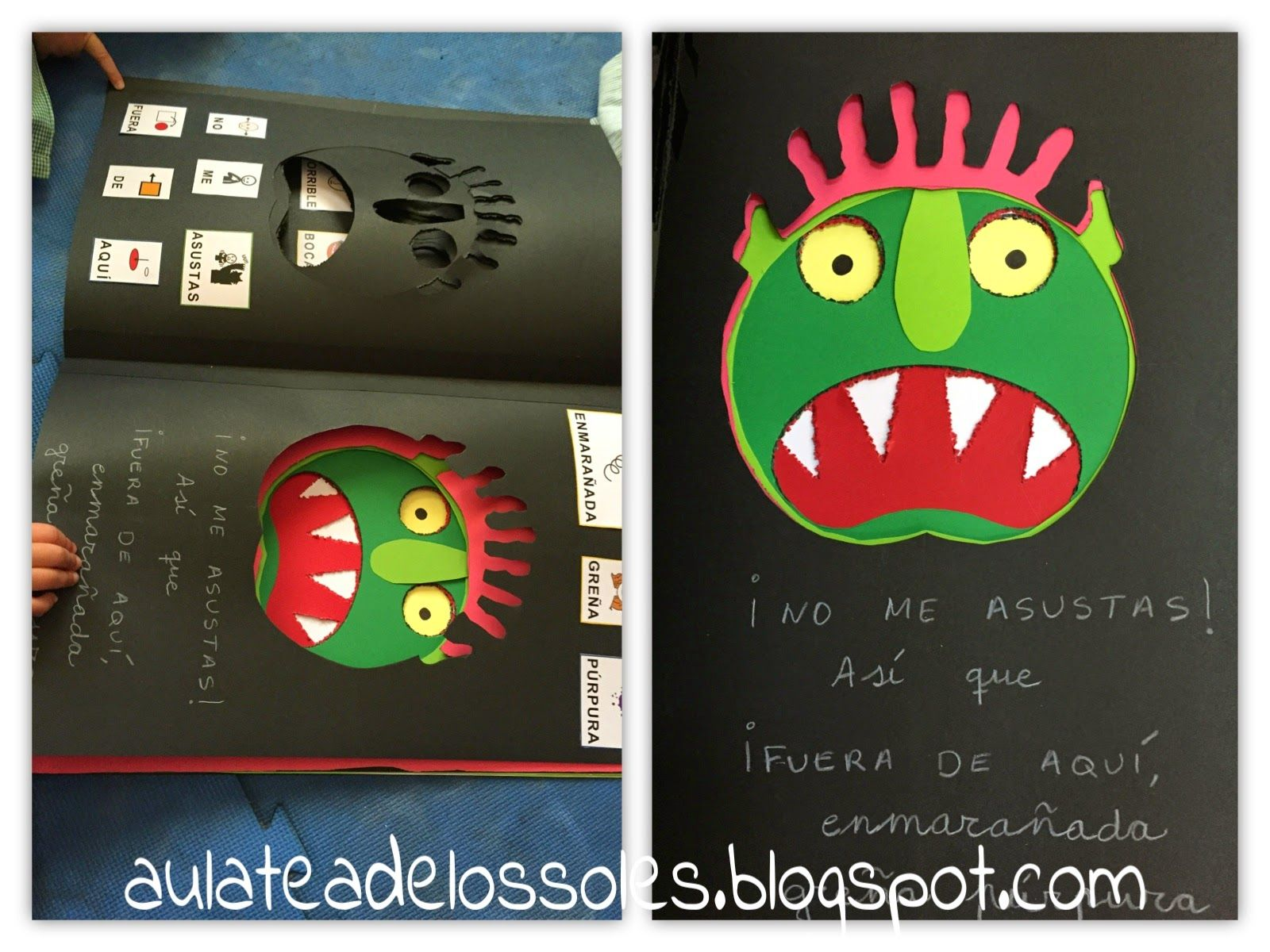 adaptando cuentos fuera de aqu horrible monstruo verde