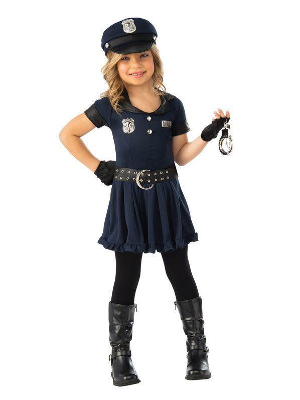 Cutie Cop Costume for Girls   Toddler girl halloween, Kids ...