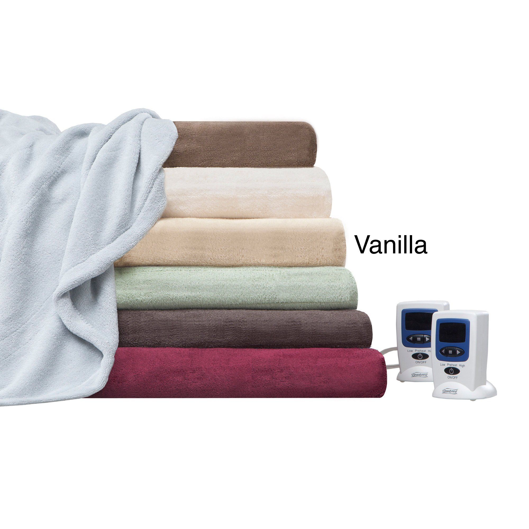 Beautyrest Cozy Plush Queen Size Vanilla (White) Heated