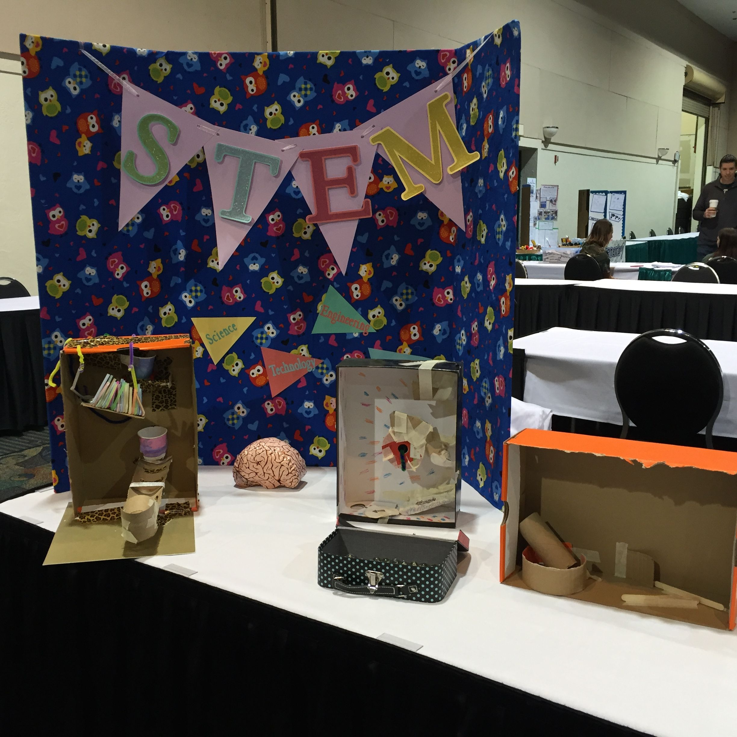 STEMtastic table display and interactive student work