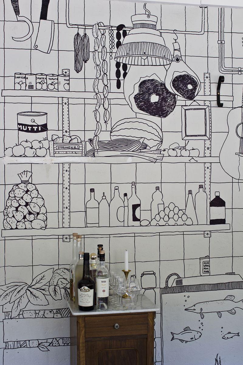 decorar cocina con rotulador