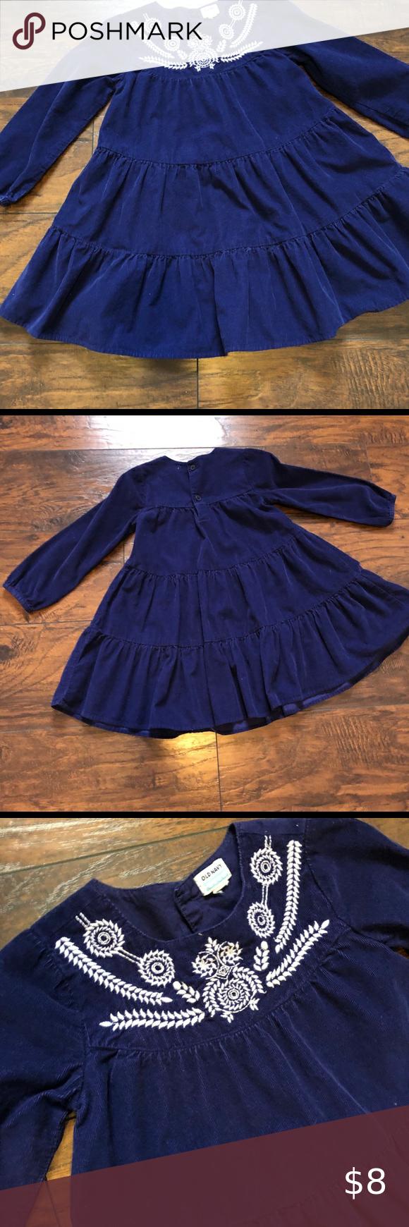 Girls 5t Long Sleeve Corduroy Dress Corduroy Dress Casual Dresses Clothes Design [ 1740 x 580 Pixel ]