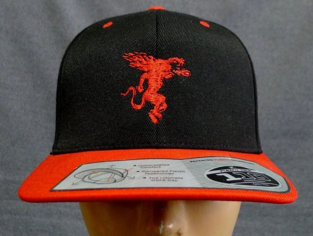 1d143966d Fireball Whiskey Snapback Hat One Ten Flexfit Tech Black Red ...