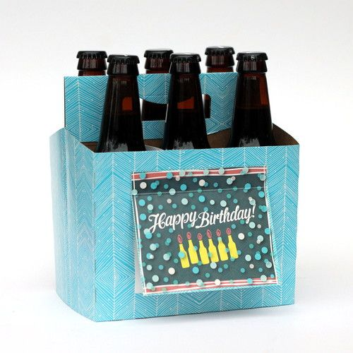 Happy Birthday Beer Box Beer Greetings Six-Pack Carrier + Greeting Card in One!   Great gift for Guys!