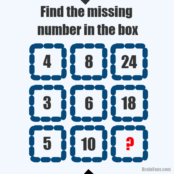 Brain teaser - Number And Math Puzzle - find the missing number in ...