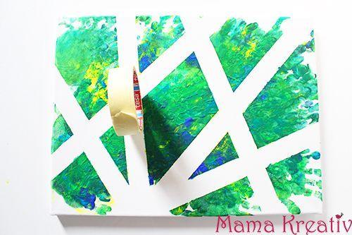 4 ideen zum malen mit kindern auf leinwand video basteln pinterest malen mit kindern - Leinwand gestalten basteln ...