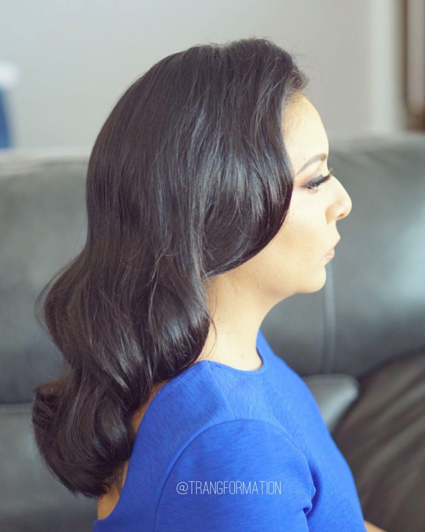 Hair, waves, Hollywood glam, glamorous hairstyle, bridal ...