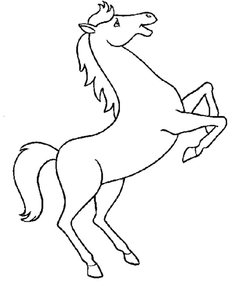 Simple Horse Coloring Pages