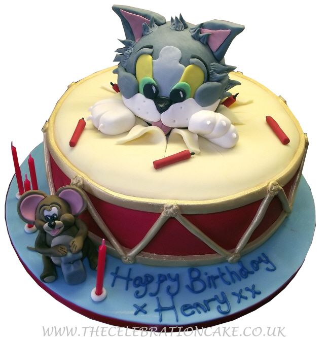 Tom Jerry Sweet and funny Pinterest Unique cakes and Cake